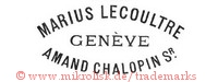 Marius Lecoultre / Geneve / Amand Chalopin Sr.