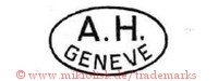 A.H. / Geneve (im Oval)