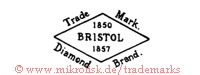 Trade Mark / 1850 Bristol 1857 / Diamond Brand (in Raute)