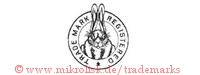 Trade Mark Registered (mit Hase im Kreis)