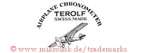 Airplane Chronometer / Terolf / Swiss Made (mit Flugzeug)