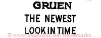 Gruen / The newest look in time