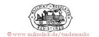 Railway Regulator / Registered (im Schild mit Eisenbahn)