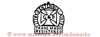 C & B / 1776 Centennial 1876 / Trade Mark registered (auf Bannern mit Kreuz) | G&B