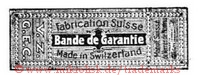Fabrication Suisse / Bande de Garantie / Made in Switzerland / V.Z. / G.E.C. (im Rechteck)