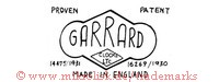 Garrard / Proven Patent / Made in England