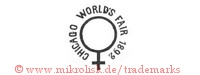 Chicago World's Fair 1892 (mit Kreis und Kreuz)