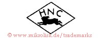 HNC (in Raute mit Hase)