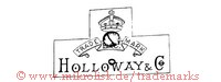 Trade Mark / HOLLOWAY & Co. (mit Banner und Krone)