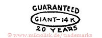 Guaranteed / Giant / 14K / 20 Years (im Schild)