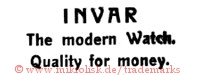 Invar / The modern Watch. / Quality for money.