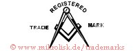 Registered Trade Mark (mit Zirkel und Winkel)