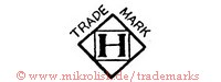 Trade Mark / H (im Quadrat in Raute)