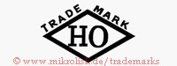 Trade Mark / HO (in Raute)