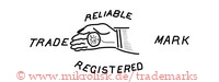Reliable / Trade Mark / Registered (mit Uhr in einer Hand)