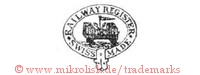 Railway Register / Swiss Made (im Hosenbandorden mit Wagon und Fahne)