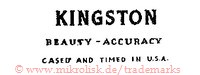 Kingston / Beauty - Accuracy / Cased and Timed in U.S.A.