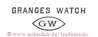 Granges Watch / GW (im spitzen Oval)