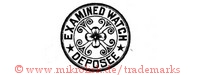 Examined Watch / Deposee (im Kreis mit Blume)