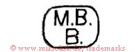M.B. B. (in runder Form)