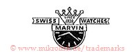 Swiss Watches Marvin / Since 1850 (mit Banner, Krone und Uhr)