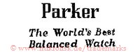 Parker / The World's Best Balanced Watch