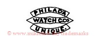 Philad'a Watch C.Co. Unique (in Bannern)