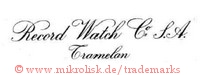 Record Watch Co. S.A., Tramelan