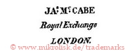 JAs Mc CABE / Royal Exchange / London