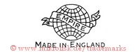 Empire / Made in England (auf Banner mit Globus)