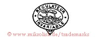 Regulateur Invariable (im Oval mit Raddampfer/Schiff)