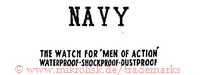 Navy / The Watch for Men of Action / Waterproof-Dustproof-Shockproof