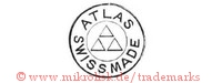 Atlas / Swiss Made (im Kreis mit Dreiecken)