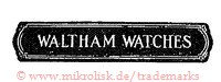 Waltham Watches (im Banner/Schild)