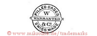 Filled Cases / W & Co / Warranted / Swiss Made (im Kreis mit Banner)