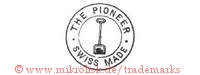 The Pioneer / Swiss Made (im Kreis mit Schaufel)