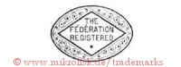 The Féderation Registered (in Raute mit Stern im Oval)