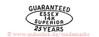 Guaranteed / Essex 14K Superior / 25 Years (im Oval)