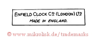 Enfield Clock Co. / London Ltd. / Made in England (im Rechteck)