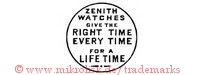 Zenith Watches give the right time every time for a life time (im Kreis)