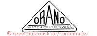 Orano Watch Co. Ltd. Swiss (im Dreieck)