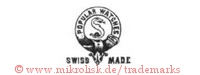 Popular Watches / Swiss Made (im Hosenbandorden mit Schlange)
