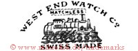 West End Watch Co. / Matchless / Swiss Made (mit Eisenbahn)