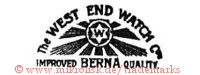 The West End Watch Co. / W / Improved Berna Quality (mit Stern und Strahlen)